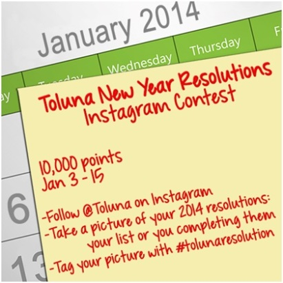 Toluna New Year Resolutions Instagram Contest